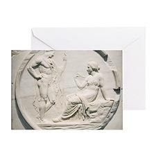 Achilles consulting Pythia, Roman ca Greeting Card