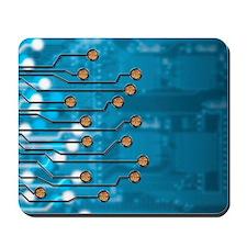 Brain-computer interface, artwork Mousepad