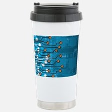 Brain-computer interface, artwo Travel Mug