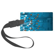 Brain-computer interface, artwor Luggage Tag