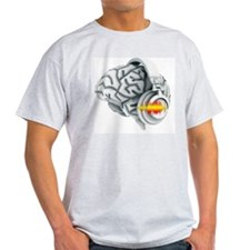 Brain with headphones, artwork T-Shirt