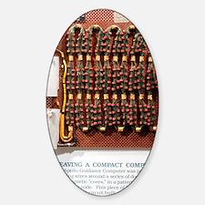 Apollo guidance computer memory Decal