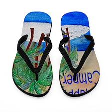 Happy Camper Flip Flops