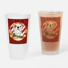 Brawny Bulldog Barbershop Brew Drinking Glass