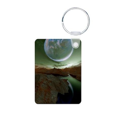 Alien landscape, artwork Aluminum Photo Keychain