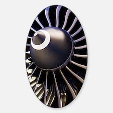 Aeroplane engine Sticker (Oval)