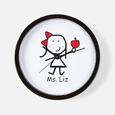 Apple - Liz Wall Clock