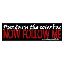 Color Box Bumper Bumper Sticker