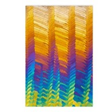 Caffeine crystals, light  Postcards (Package of 8)