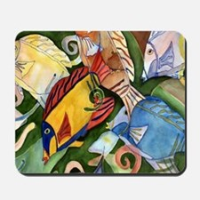 Tropical Fish School Mousepad