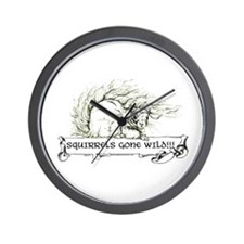 Squirrels Gone Wild - Nature Wall Clock