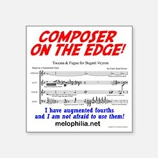 "composer on the edge Square Sticker 3"" x 3"""
