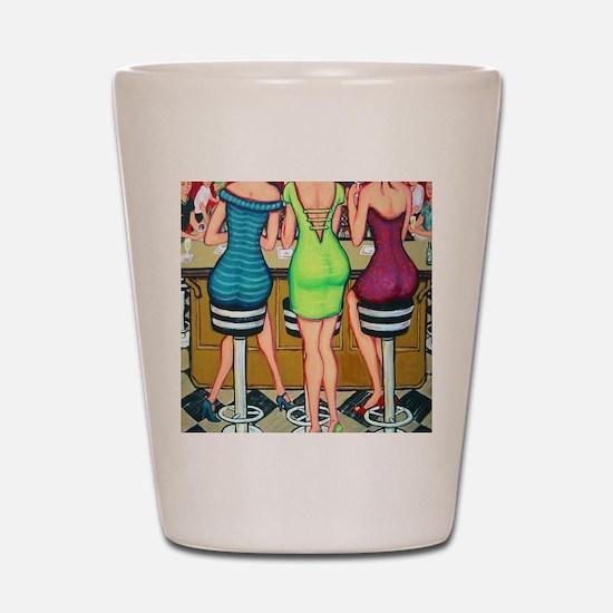 Happy Hour - Women Wine Flip Flops Shot Glass