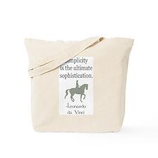dressage rider w/ quote Tote Bag