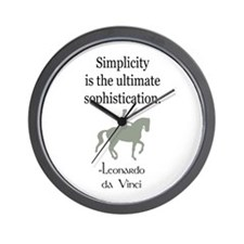 dressage rider w/ quote Wall Clock
