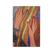 Rainbow Sleeves Rectangle Magnet