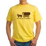 Oregon Trail: You have died o Yellow T-Shirt