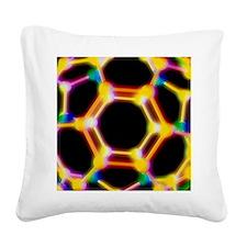 Buckminsterfullerene Square Canvas Pillow