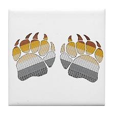 1 SET BEARS PRIDE PAWS Tile Coaster