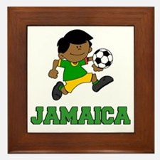 Jamaica Football (Soccer) Child Framed Tile