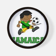 Jamaica Football (Soccer) Child Wall Clock
