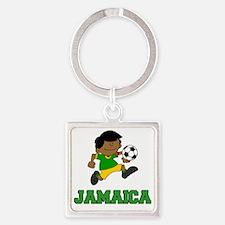 Jamaica Football (Soccer) Child Square Keychain