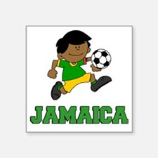 "Jamaica Football (Soccer) C Square Sticker 3"" x 3"""