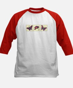 Butterflies Kids Baseball Jersey