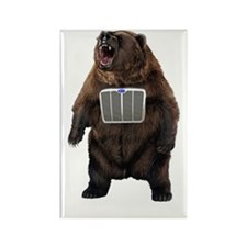 Grill Bear Rectangle Magnet