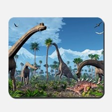 Brachiosaurus dinosaurs, artwork Mousepad