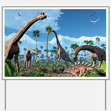 Brachiosaurus dinosaurs, artwork Yard Sign
