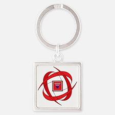 Flux Love Genderfluid Square Keychain