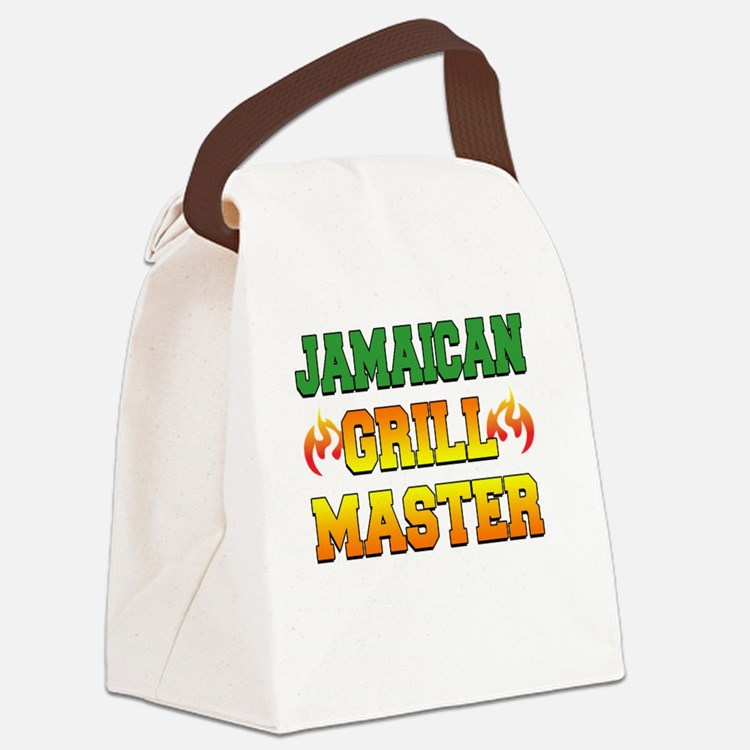 Jamaican Grill Master Dark Apron Canvas Lunch Bag