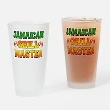 Jamaican Grill Master Dark Apron Drinking Glass