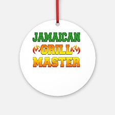 Jamaican Grill Master Dark Apron Round Ornament