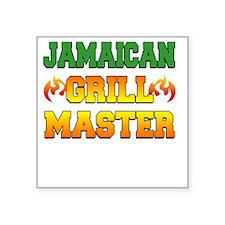 "Jamaican Grill Master Dark  Square Sticker 3"" x 3"""