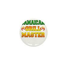 Jamaican Grill Master Dark Apron Mini Button