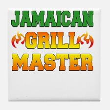 Jamaican Grill Master Dark Apron Tile Coaster