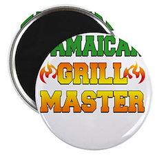 Jamaican Grill Master Dark Apron Magnet