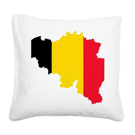 Belgium Square Canvas Pillow