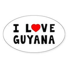 I Love Guyana Decal