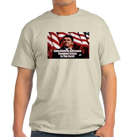 """Ronald Reagan: Liberalism Is A Disease!"" Color T"