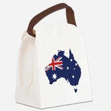 Flag Map of Australia Canvas Lunch Bag