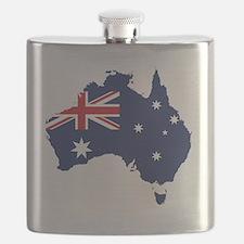 Flag Map of Australia Flask