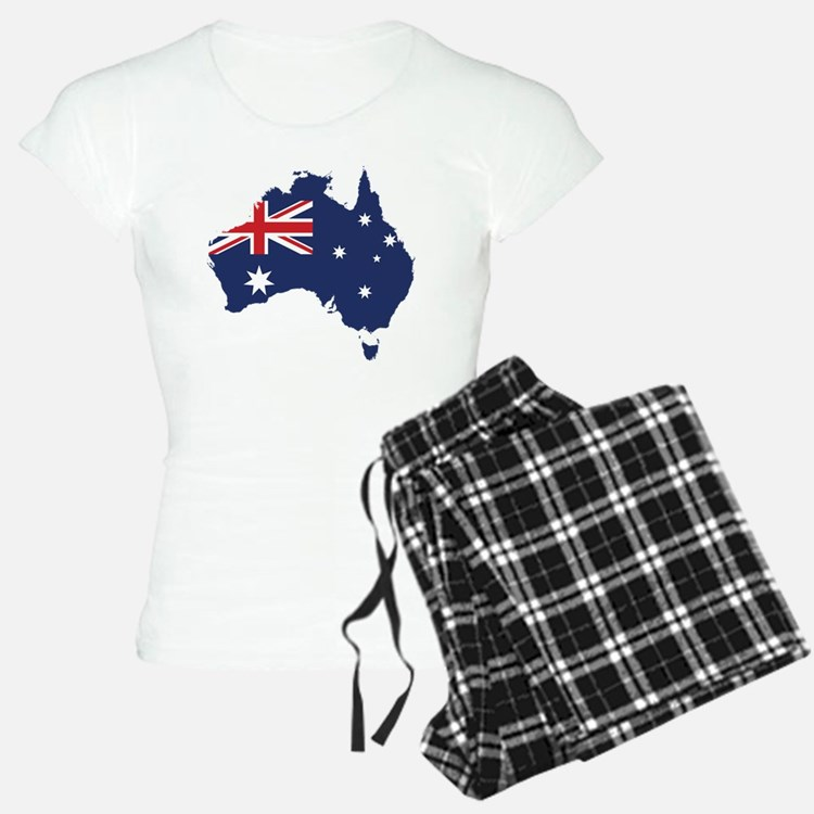 Flag Map of Australia Pajamas