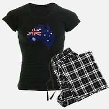 Flag Map of Australia Pajamas