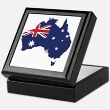 Flag Map of Australia Keepsake Box