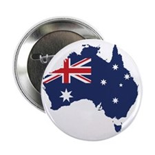 """Flag Map of Australia 2.25"""" Button"""