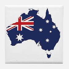 Flag Map of Australia Tile Coaster