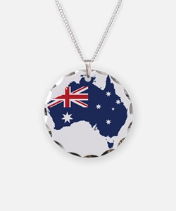 Flag Map of Australia Necklace
